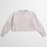 IMPACT Adidas Originals Sweatshirt 短版 大學T 長袖 芋頭 紫 三葉草 DH4656
