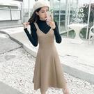 吊帶裙 2020秋冬季女裝氣質穿搭背心吊帶裙子內搭打底背帶洋裝兩件套裝 開春特惠