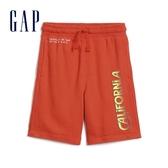 Gap男童創意印花鬆緊腰休閒短褲574241-深橙色