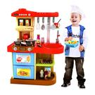 家家酒系列玩具 豪華聲光廚具台 紅色 W...