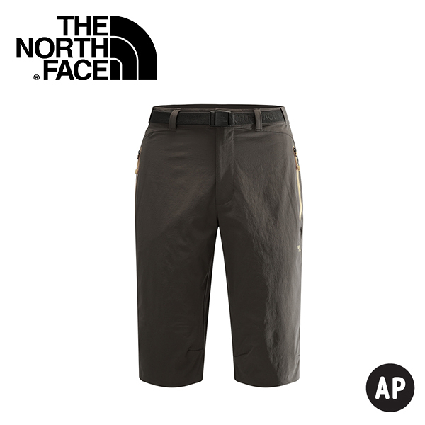【The North Face 男 男 LIGHTEN兩件式褲 灰咖啡】CZK4/短褲/休閒短褲