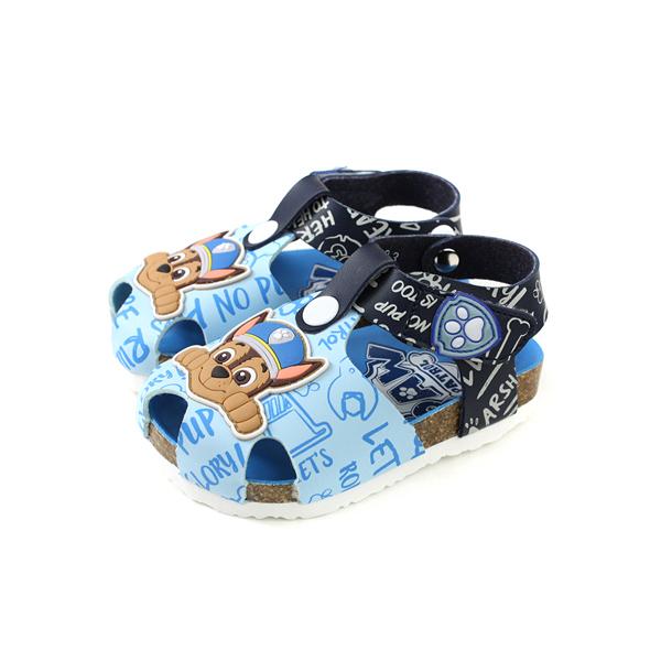 PAW PATROL 狗狗 涼鞋 勃肯鞋 魔鬼氈 童鞋 藍色 小童 D93803-550 no018