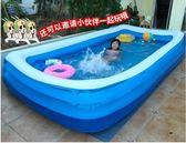 超大號兒童游泳池家用加厚寶寶充氣水池嬰兒游泳桶成人家庭洗澡池igo  莉卡嚴選