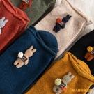堆堆襪女秋冬保暖加厚羊毛襪子女中筒襪可愛日系長筒襪【小獅子】