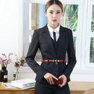 美之札[YS-7075-PF]條紋顯瘦修身款西裝領OL長袖西裝外套~無腰帶-