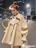 西裝洋裝 工裝風衣女寬鬆短款韓版小個子鹽系炸街網紅外套上衣2021新款春秋 愛麗絲