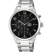ALBA 雅柏 Prestige 街頭酷流行計時手錶-黑/40mm VD57-X079D(AM3335X1)