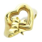 【特價23%OFF】TIFFANY&CO 蒂芙尼 Open Heart系列鏤空愛心造型戒指 10號BRAND OFF