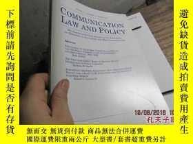 二手書博民逛書店communication罕見law and policy vo