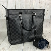 BRAND楓月 Louis Vuitton LV N51192 黑棋盤 托特 2WAY 公事包
