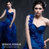 馬甲 斜肩浪漫藍玫瑰舞動塑身馬甲-束身、表演服_蜜桃洋房
