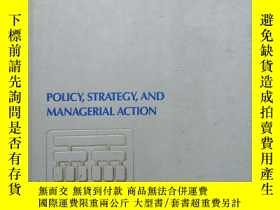 二手書博民逛書店POLICY罕見STRATEGY AND MANAGERIAL