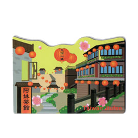 【收藏天地】台灣紀念品*軟膠冰箱貼-九份
