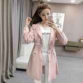 風衣外套 春裝新款顯瘦中長款女學生韓版春冬寬鬆外套  萬客居