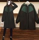 防風保暖外套l-4xl冬裝加絨加厚防兔貂大碼風衣韓版時尚寬鬆減齡外套9629#M-031韓衣裳