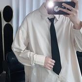 領帶韓版休閒純色懶人拉錬領帶青少年學生情侶細小領帶商務職業領帶男【母親節禮物】