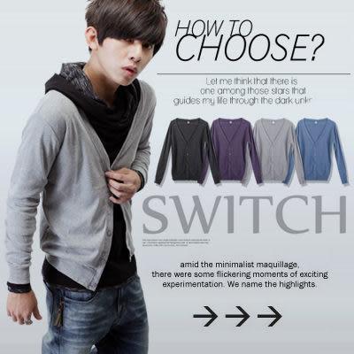 ∥柒零年代∥Trendily【N7654J】都會簡約新貴暖感排扣素面棉料長袖罩衫外套(EZ9015)
