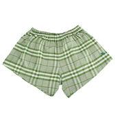 BURBERRY 經典格紋棉質四角內褲(綠色)085195-5