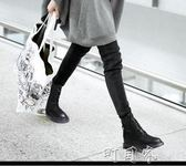 馬丁靴女百搭英倫風學生鞋子女生韓版加絨短靴女平底 盯目家