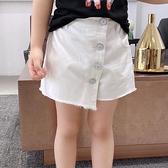女童牛仔短褲 女童裙褲夏裝童褲新款洋氣牛仔褲女大童毛邊褲子正韓兒童短褲-Ballet朵朵
