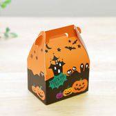 【BlueCat】萬聖節大中小南瓜橘色手提紙盒 糖果盒