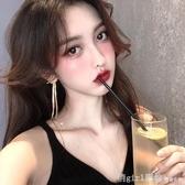 韓國氣質網紅耳飾品長款耳墜顯臉瘦流蘇耳環2020新款潮時尚耳釘女 雙12狂歡購