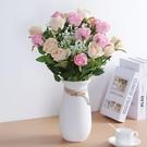 仿真花 防真玫瑰花客廳裝飾仿真花餐桌單支...