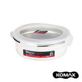 韓國KOMAX Stenkips不鏽鋼圓型保鮮盒630ml(白色)630ml