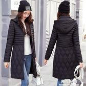棉衣外套秋冬新款中老年女輕薄款修身顯瘦媽媽冬季中長款棉服棉襖 陽光好物