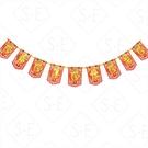 絨面財神爺旗幟拉花條 勝億紙藝品行春聯年節喜慶飾品批發零售