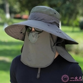 釣魚帽子男遮陽帽夏季戶外防曬太陽帽大檐垂釣透氣漁夫帽登山涼帽