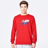 New Balance 服飾系列 男款LOGO圓領長袖T恤-  NO.AMT81528REP