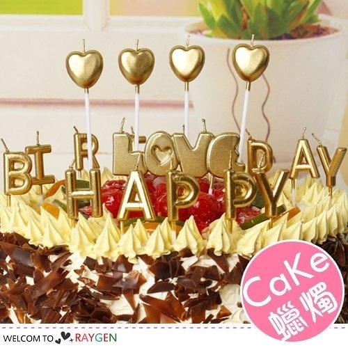蛋糕蠟燭 HAPPY BIRTHDAY 土豪金系列生日字母蠟燭