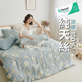 『TCL27』奧地利100%TENCEL涼感純天絲6x7尺雙人特大床包枕套三件組(不含被套)床單 床套 床巾