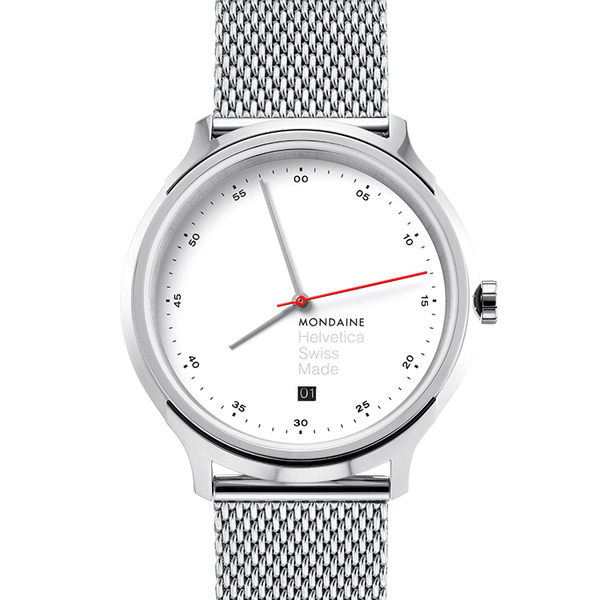MONDAINE 瑞士國鐵Erik Spiekermann聯名紀念錶-40mm/米蘭鋼鏈 1R2211SM