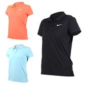 NIKE 女子短袖針織衫 (網球 高爾夫球 POLO衫 免運 ≡排汗專家≡