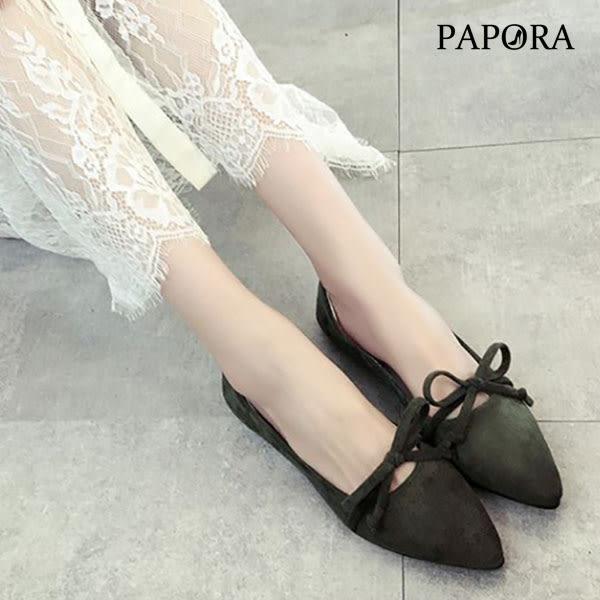 平底鞋.氣質小巧蝴蝶尖頭平底鞋【KV1277】黑/棕/粉/綠