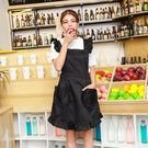 圍裙韓版時尚廚房做飯防油餐廳工作服...