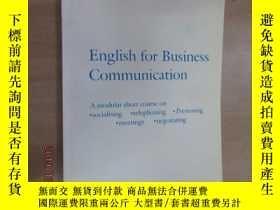二手書博民逛書店英文書罕見ENGLISH FOR BUSINESS COMMUN