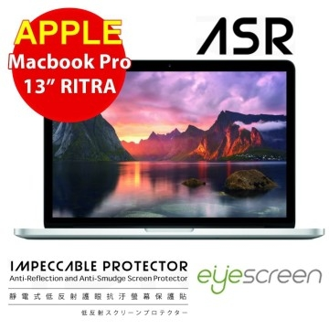 """TWMSP★按讚送好禮★EyeScreen Macbook Pro 13"""" Retina  靜電式低反射護眼抗污 螢幕保護貼"""
