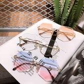 眼鏡  街拍墨鏡女2018新款韓版潮復古原宿風太陽眼鏡漸變色防紫外線 芭蕾朵朵