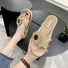 夏季少女心人字拖女外穿防滑夾腳平底海邊沙灘鞋網紅時尚涼拖鞋潮