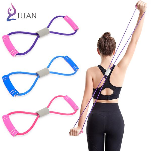 拉伸磅數再提升! ILIAN 8字瑜珈彈力繩 運動健身拉力繩 手臂、腿部 S曲線鍛鍊 伸展帶 塑形好幫手
