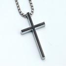 鈦鋼簡約十字架(附3mm*60公分鈦鋼鏈)