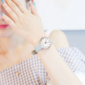 雙12鉅惠 真皮女學生手錶韓版女士簡約時尚潮流中學生防水女表石英表 新知優品