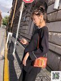 孕婦秋裝套裝新款時尚款寬鬆大碼長袖針織上衣寬管褲孕婦裝 玫瑰女孩