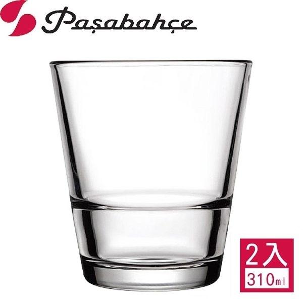 【Pasabahce】強化可疊式威士忌杯310cc(2入組)