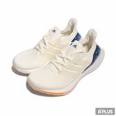 ADIDAS 男女 慢跑鞋 ULTRABOOST 21 襪套 透氣 白藍 情侶鞋-GX8532