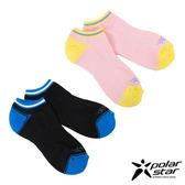 PolarStar 中性排汗快乾厚底踝襪 (2入) 淺粉紅/黑 M號 P15525