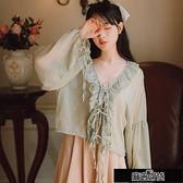 配吊帶裙子的小披肩外搭罩衫雪紡開衫女夏季學生防曬衣超仙女【全館免運】